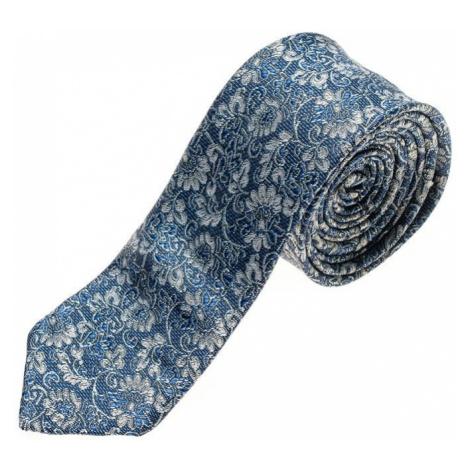 Modrá pánska elegantná kravata BOLF K101