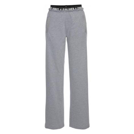s.Oliver Pyžamové nohavice  sivá melírovaná