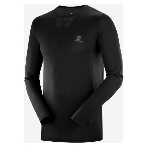 Pánske tričko Salomon Sense LS Tee čierne