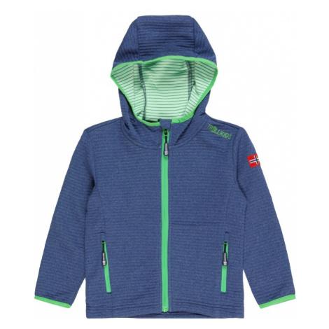 TROLLKIDS Outdoorová bunda  námornícka modrá / svetlozelená