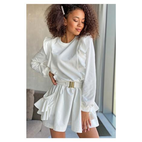 Smotanové šaty MQ081