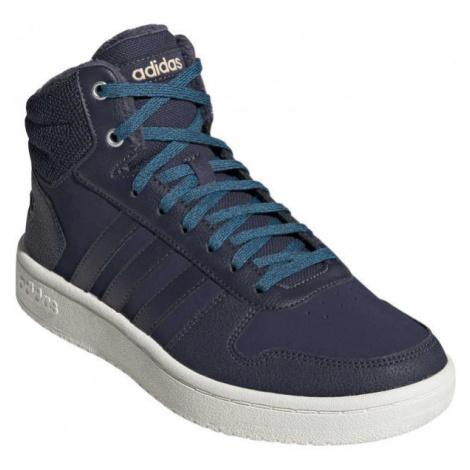 adidas HOOPS 2.0 MID tmavo modrá - Dámska obuv na voľný čas