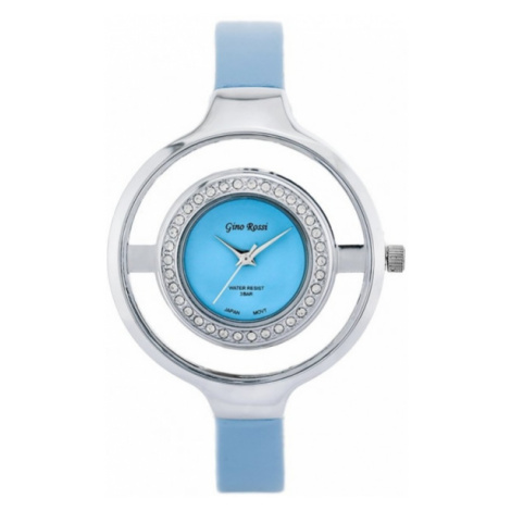 Krásne modré dámske hodinky Gino Rossi 8965A-6F1