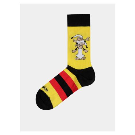 Žlté vzorované ponožky Fusakle Kremienok a Chocholusik Under Armour