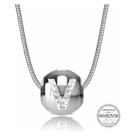 Levien Oceľový náhrdelník písmeno V Cleto-V