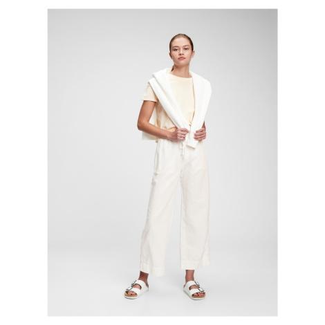 GAP biele široké nohavice
