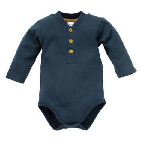 Pinokio Kids's Secret Forest Longsleeve Polo Bodysuit Navy Blue