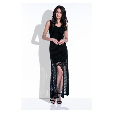Černé dlouhé šaty Fobya F413