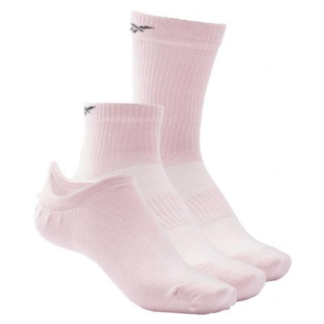 Reebok TE ALL PURPOSE SOCK 3P ružová - Ponožky