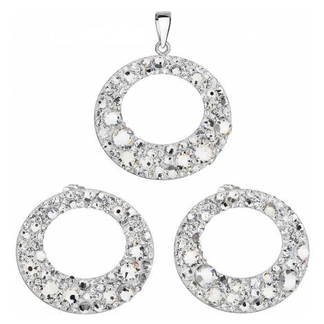 Sada šperkov s kryštálmi Swarovski náušnice a prívesok biela 79043.1