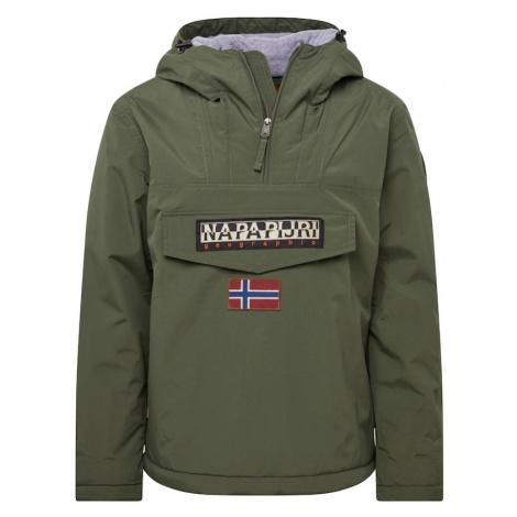 NAPAPIJRI Zimná bunda  zelená / čierna
