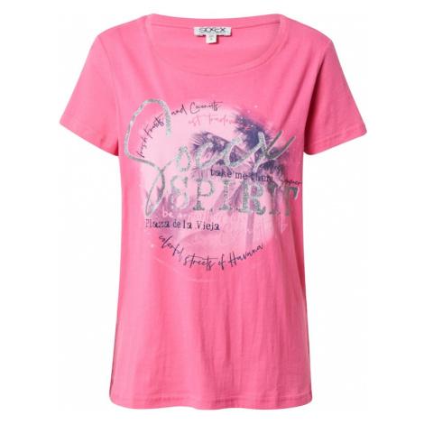Soccx Tričko  ružová / strieborná / tmavofialová / pastelovo ružová