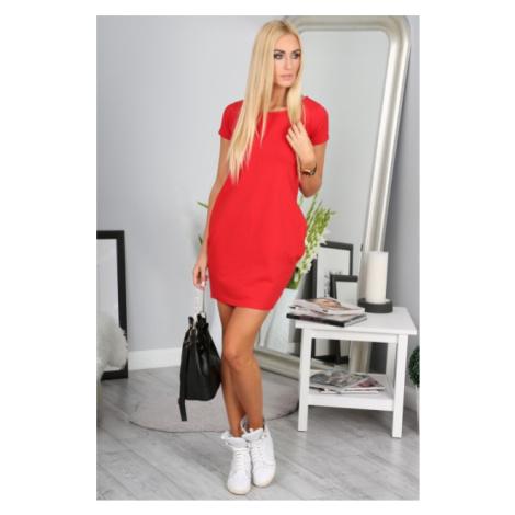 Červené športové šaty FASARDI
