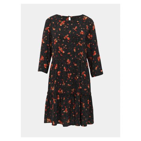 Čierne kvetované šaty M&Co