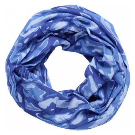 Finmark MULTIFUNKČNÁ ŠATKA modrá - Multifunkčná šatka