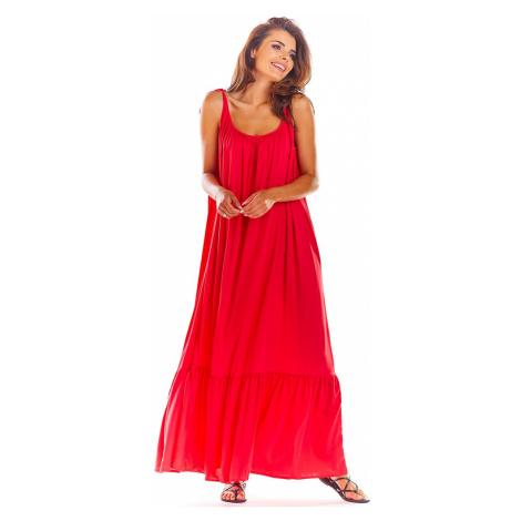 Fuchsiové šaty A307 Awama