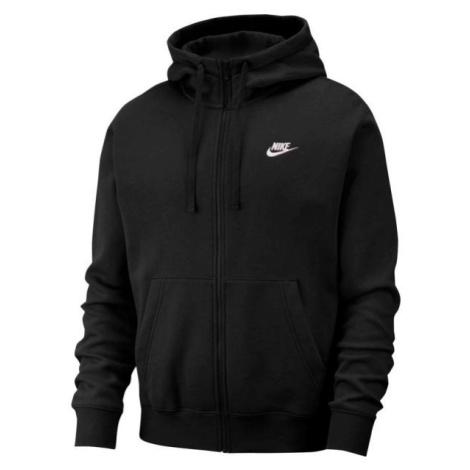 Nike NSW CLUB HOODIE FZ BB čierna - Pánska mikina