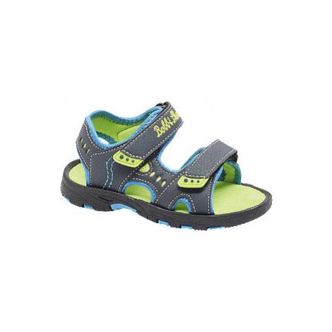 Tmavomodré sandále na suchý zips Bobbi Shoes Bobbi-Shoes