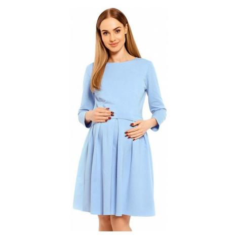 Tehotenské a dojčiace šaty Celeste modré PeeKaBoo