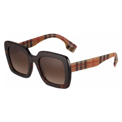 BURBERRY Slnečné okuliare '0BE4284'  hnedá / svetlohnedá / čierna / červená
