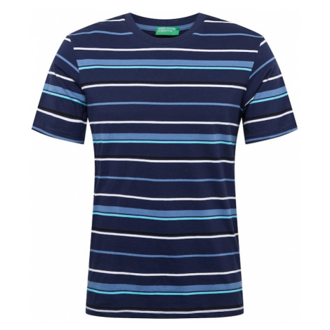 UNITED COLORS OF BENETTON Tričko  námornícka modrá / svetlomodrá / kráľovská modrá / biela