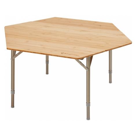 Kempingový stôl KING CAMP Bamboo Color šesťstranný