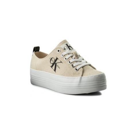 Calvin Klein Jeans Sneakersy Zolah Heavy RE9730 Béžová