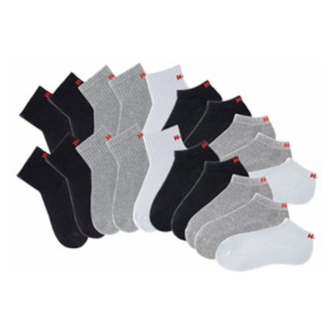 H.I.S Ponožky  sivá / čierna / biela
