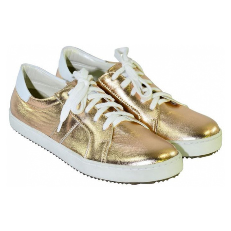 Zlato-ružové kožené topánky na šnurovanie ENVISA Alex