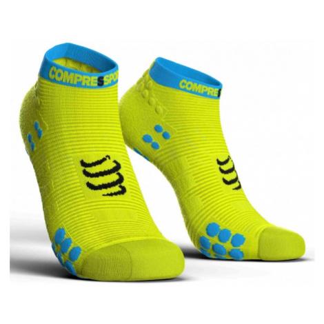 Compressport RACE V3.0 RUN LO žltá - Bežecké ponožky