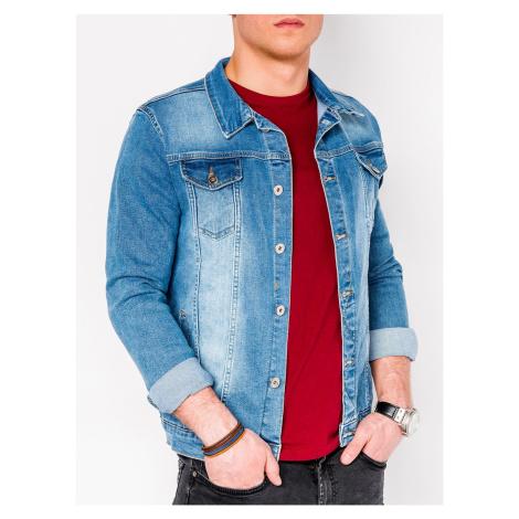 Pánska prechodná džínová bunda Savage světle modrá