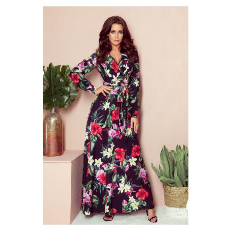 Dámske kvetinové šaty 245-3