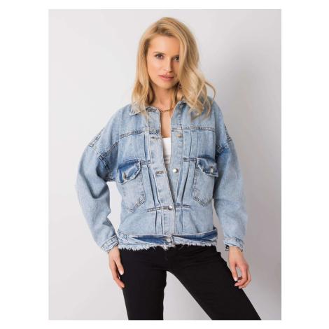 Light blue denim jacket with a belt