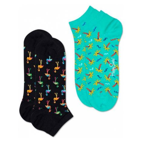 Happy Socks 2-Pack Flamingo Low Sock-M-L (41-46) farebné FMN02-9300-M-L (41-46)
