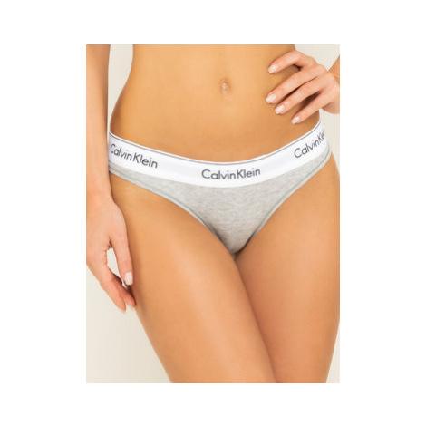 Calvin Klein Underwear Stringové nohavičky 0000F3786E Sivá