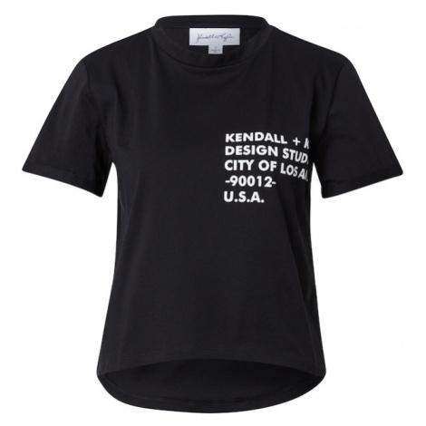 KENDALL + KYLIE Tričko  čierna / biela
