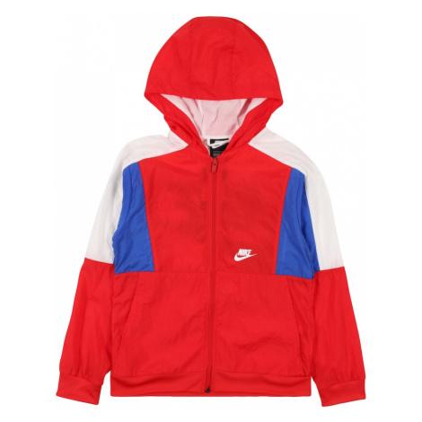 Nike Sportswear Prechodná bunda  kráľovská modrá / červená / prírodná biela