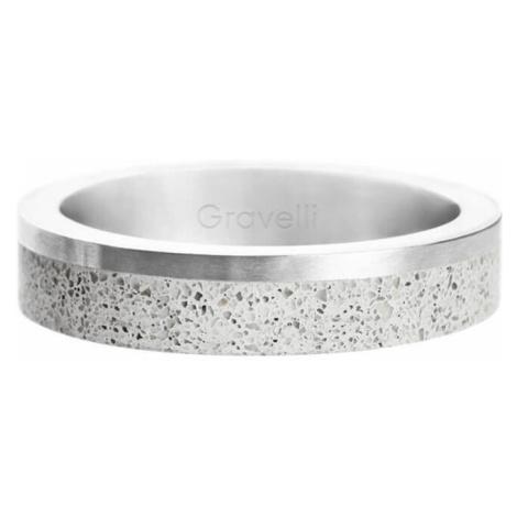 Gravelli Betónový prsteň Edge Slim oceľová / sivá GJRUSSG021 mm