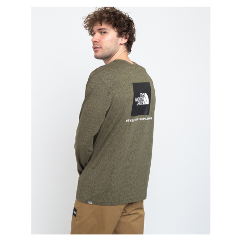 The North Face Ls Red Box Tee Burntolive