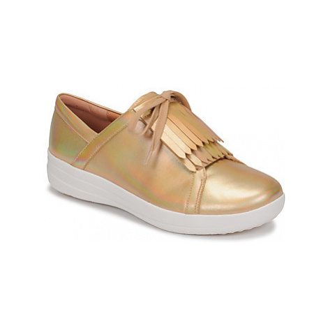 FitFlop F-SPORTY II LACE UP FRINGE SNEAKERS-IRIDESCENT LTR Zlatá