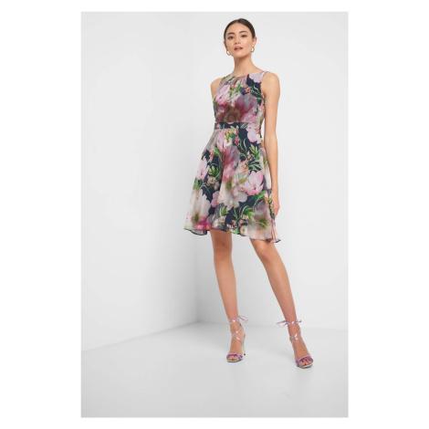 Kvetinové šaty s volánom Orsay