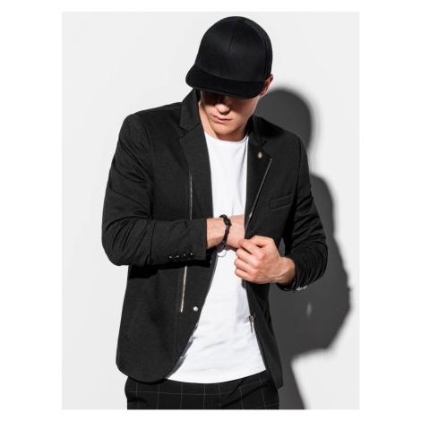 Ombre Clothing Men's casual blazer jacket M160 Black