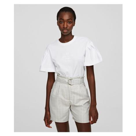 Tričko Karl Lagerfeld Puffy Sleeve Top W/ Logo