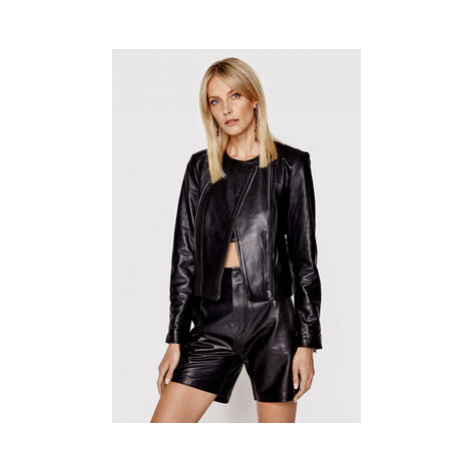 LaMarque Kožená bunda Esmeralda Čierna Slim Fit