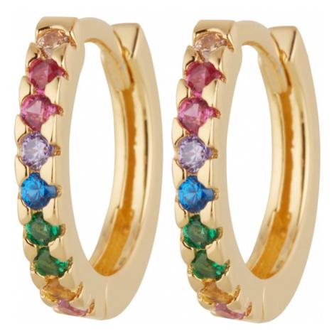 OHH LUILU Náušnice 'Rainbow Hoops'  zlatá
