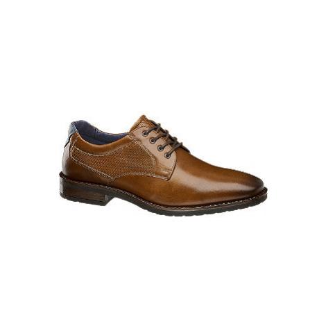 Hnedá kožená spoločenská obuv AM SHOE