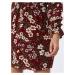 Trendyol Šaty  burgundská / zmiešané farby