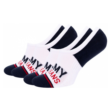 TOMMY HILFIGER - 2PACK Tommy jeans vintage mid cut neviditeľné ponožky