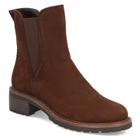 Pat Calvin nubuk chelsea boots hnedá