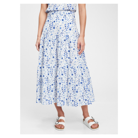 GAP bielo-modrá dlhá sukňa